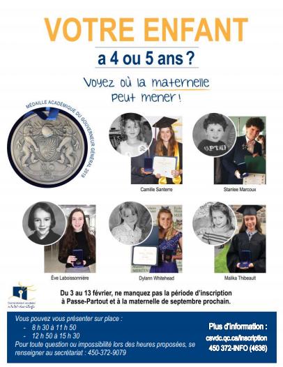 inscriptions maternelle 2020